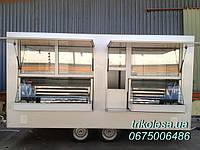 Киоск на колесах для молочной продукции
