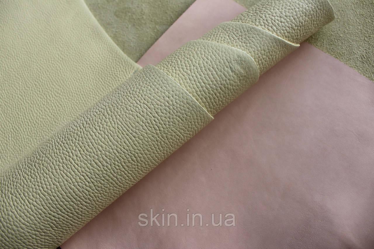 """Натуральная кожа """"Флотар"""" желтого цвета, толщина 1.5 мм, арт. СК 2242"""