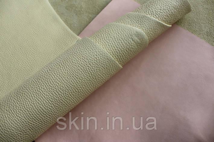 """Натуральная кожа """"Флотар"""" желтого цвета, толщина 1.5 мм, арт. СК 2242, фото 2"""