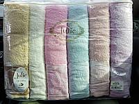 Банные  полотенца Турция Джулия 6 шт в уп. Размер 1.4х70  хорошее качество
