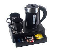 Чайная станция, набор M-H1262 Black (0,6 л), для гостиниц