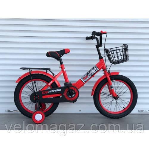 """Велосипед детский TopRider-09 16"""" двухколесный, красный"""