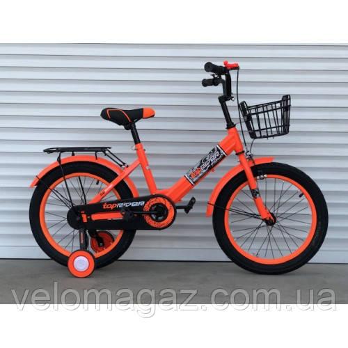 """Велосипед детский TopRider-09 18"""" двухколесный, оранжевый"""