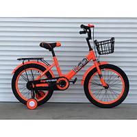 """Велосипед детский TopRider-09 18"""" двухколесный, оранжевый, фото 1"""