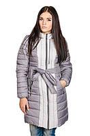 Женская зимняя куртка Алена (серый/светло-серый)