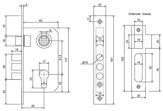 врезнойзамокApecs 1023/60-G схема