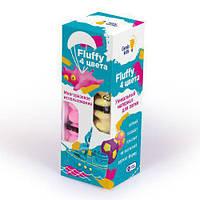 """Воздушный пластилин для детской лепки """"Fluffy"""" 4 цвета TA1501 Genio kids (TC129251)"""