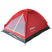 """Палатка трехместная KingCamp """"Monodome 3"""", красная"""