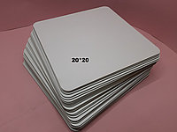 Подложка под торт квадрат белая. Усиленная подложка для торта 20*20 см