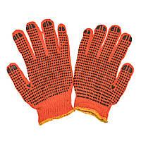 Рабочие  перчатки с ПВХ точкой  FAR