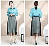 Женская расклешенная юбка с люрексом 42-44 (в расцветках), фото 3