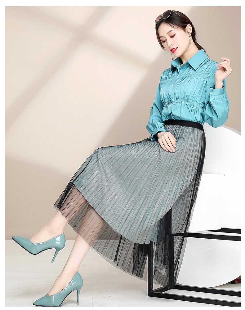 Женская расклешенная юбка с люрексом 42-44 (в расцветках)