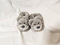 Тапочки детские теплые домашние мишки M&S Marks & Spencer (размер 18, рост 76, 6-12 мес)