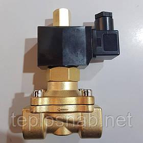 """Клапан электромагнитный 1/2"""" DN15 220В (соленоид) нормально открытый"""