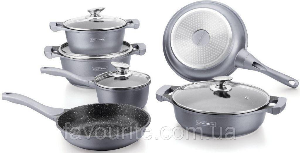 Набор посуды Royalty Line RL-BS1010M Silver