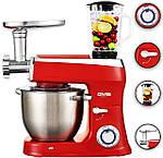 Кухонный комбайн 3в1 DMS Germany KMFB-2100R (красный) 2100 Вт, фото 2