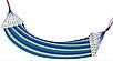Садовый гамак 200х80, Хлопковый гамак, Гамак туристический, Гамак тканевый с деревянными перекладинами, фото 2