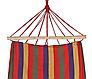 Садовый гамак 200х80, Хлопковый гамак, Гамак туристический, Гамак тканевый с деревянными перекладинами, фото 4