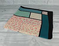 Шелковый шейный платок Accessories 0011-06 разноцветный  с принтом, фото 1