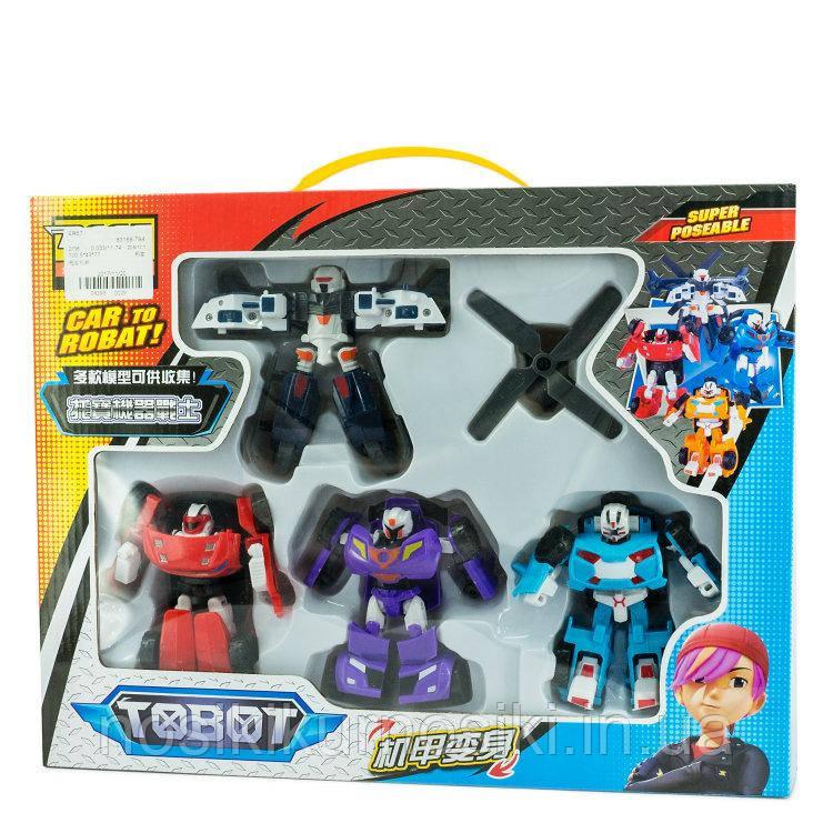 Набор трансформеров 4в1 Тобот Tobot Warrior 83168-TB4