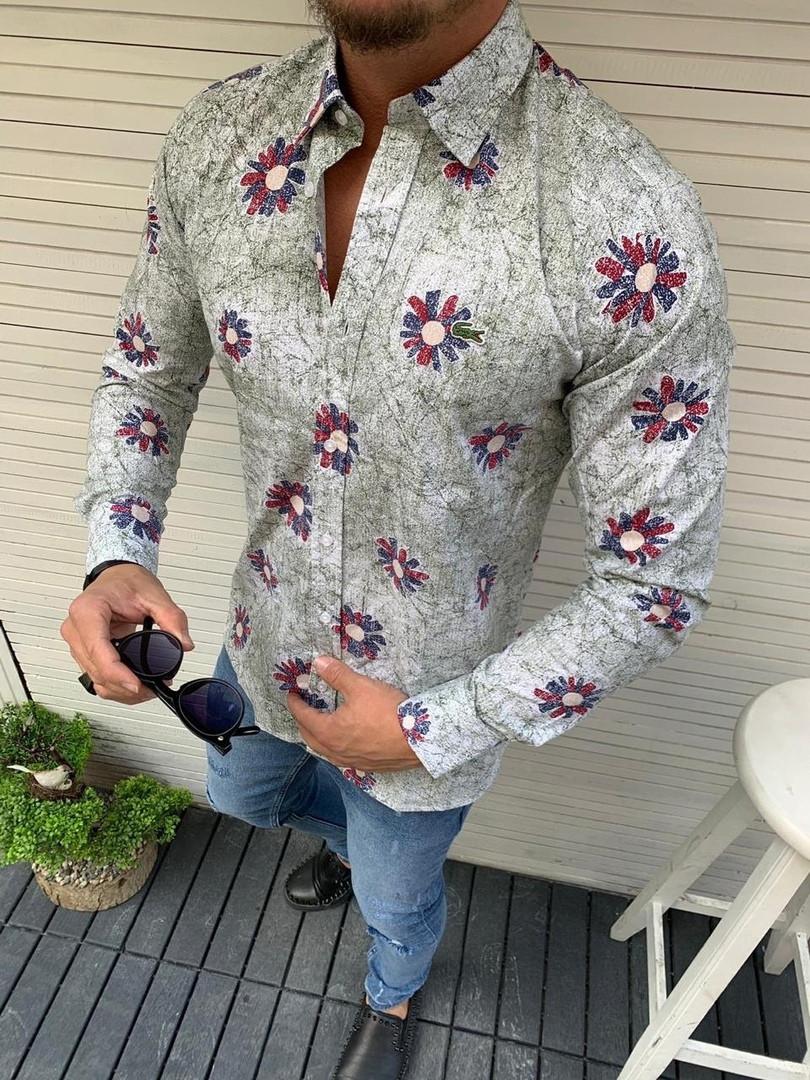 Мужская рубашка в цветах