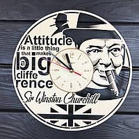 Деревянные часы на стену «Уинстон Черчилль», фото 1