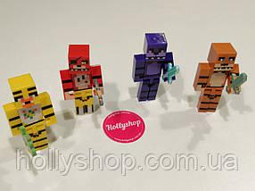 Набір фігурок 5 ночей з Фредді майнкрафт ФНаФ, фото 3