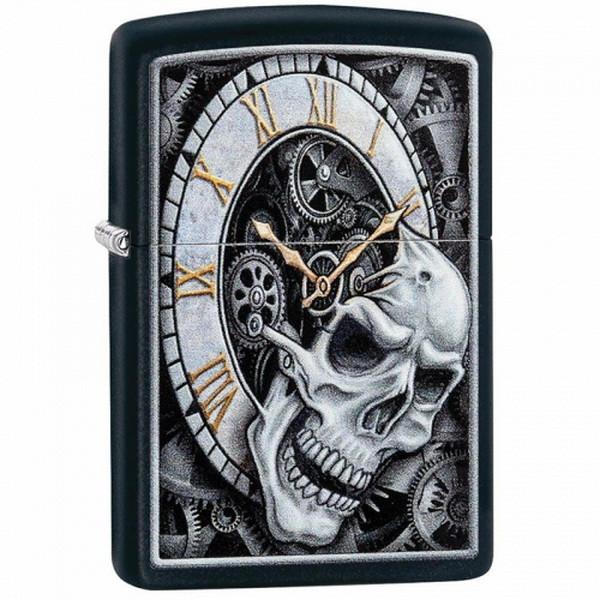 Запальничка Zippo Skull Clock Design, 29854
