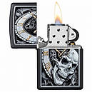 Запальничка Zippo Skull Clock Design, 29854, фото 2