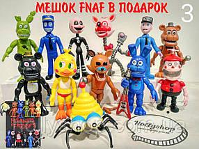 Комплект із 12 фігурок фігурок ФНАФ з гри 5 ночей з Фредді (FNAF), ~ 10см + подарунок мішок!, фото 3