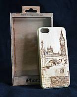 Чехол накладка для Iphone 5, деревянный