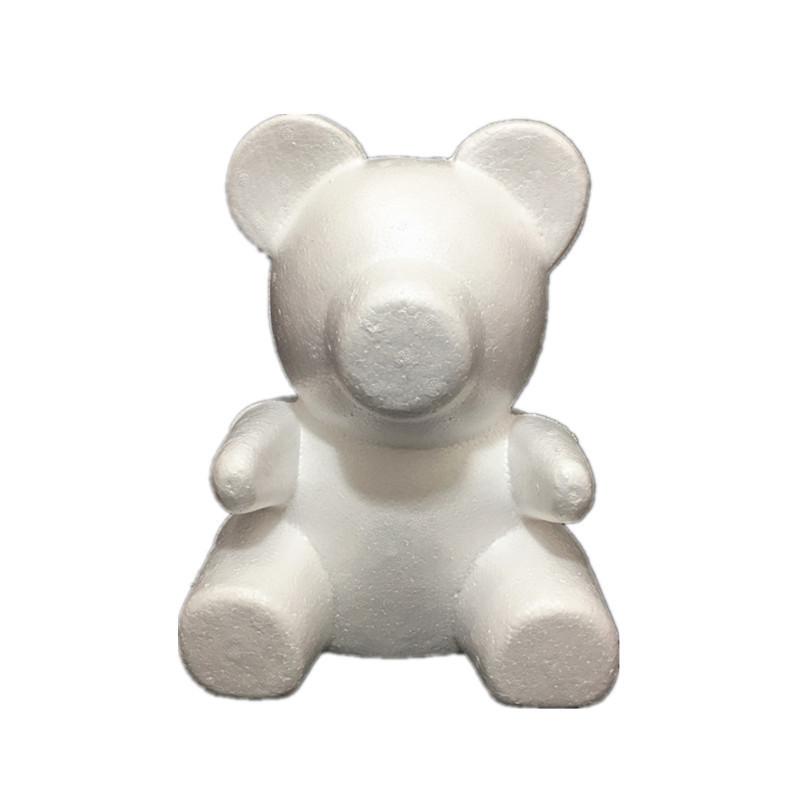 Форма заготовка пенопласт, мишка из роз, медведь 35 см