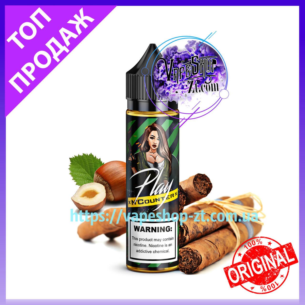 Жидкость для электронных сигарет Play N Counter GREEN 60 мл. Заправка для сигарет табачная play (Табачка)