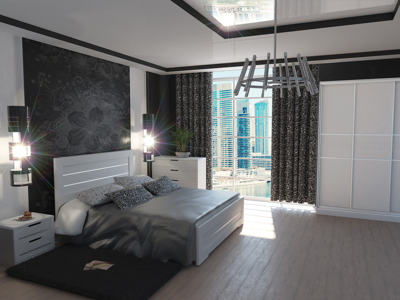 Кровать Соломия (1,20 м.) (ассортимент цветов)