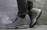 Мужские ботинки серые на зиму Lunarridge  6528