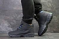 Мужские ботинки темно синие на зиму Lunarridge  6527