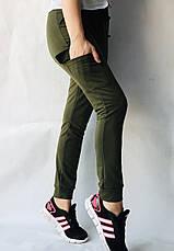 Спортивные брюки с накладными карманами N° 125 хаки, фото 3