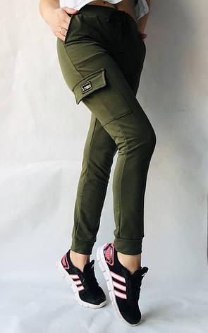 Спортивные брюки с накладными карманами N° 125 хаки, фото 2