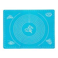 Доска силиконовая (коврик) для раскатки теста и выпечки 38х46см