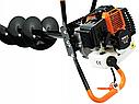 Мотобур 5200Вт Black (3 шнека і масло комплекті 150-200-250мм), фото 3