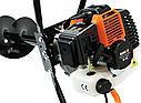 Мотобур 5200Вт Black (3 шнека і масло комплекті 150-200-250мм), фото 5