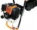 Мотобур 5200Вт Black (3 шнека і масло комплекті 150-200-250мм), фото 8