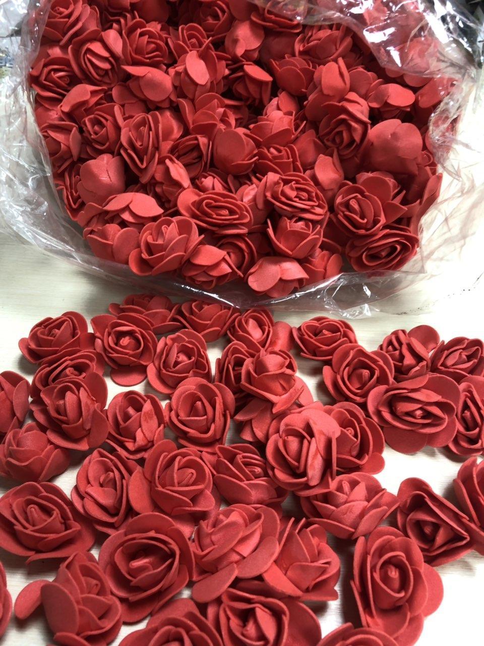 Розы для Мишек из латекса (фоамирана) 500 шт пачка