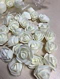 Розы для Мишек из латекса (фоамирана) 500 шт пачка, фото 5