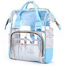 Прозрачная сумка рюкзак женская голубая Maison Fabre., фото 3