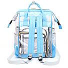 Прозрачная сумка рюкзак женская голубая Maison Fabre., фото 2