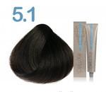 Стойкая крем-краска 3DeLuXe professional № 5-1 - светло-каштановый пепельный, 100 мл