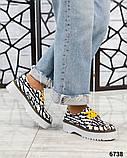 Женские кожаные туфли на макси подошве (разные цвета), фото 6