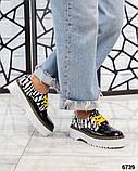 Женские кожаные туфли на макси подошве (разные цвета), фото 7