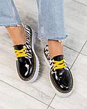 Женские кожаные туфли на макси подошве (разные цвета), фото 8